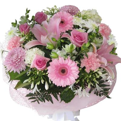 Large Pink Flower Bouquet, Best Blooms Florist Auckland New Zealand