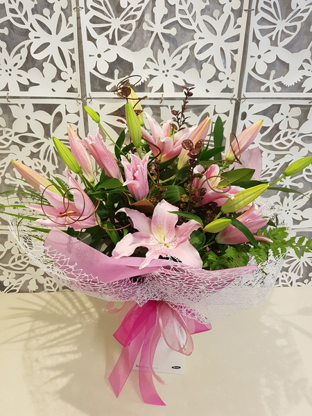 Testimonial Photo for Fragrant Pink Lily Bouquet