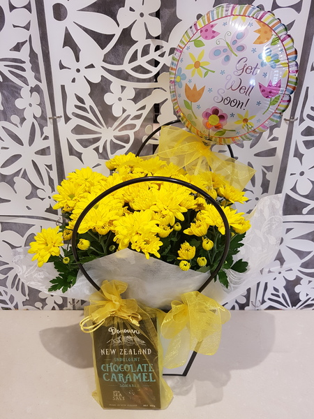Testimonial for Plant Basket with Balloon and Chocolates