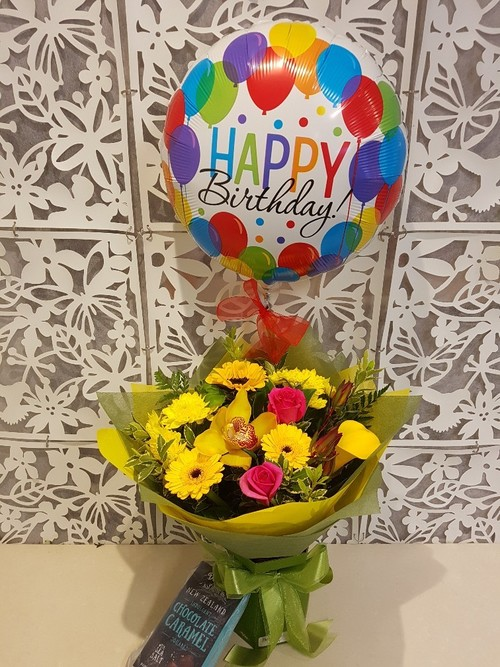 Testimonial for Birthday Bouquet, Helium Balloon, Chocolates Package