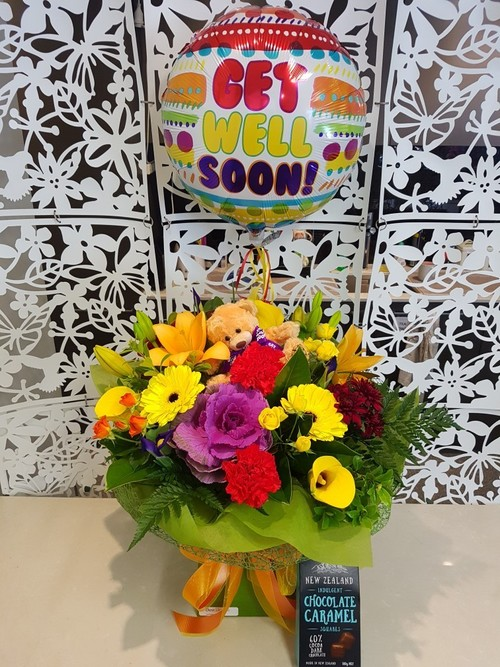 Testimonial for Get Well Bouquet, Helium Balloon, Chocolates Package