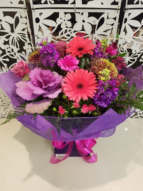 Testimonial for Hot Pink and Purple Bouquet