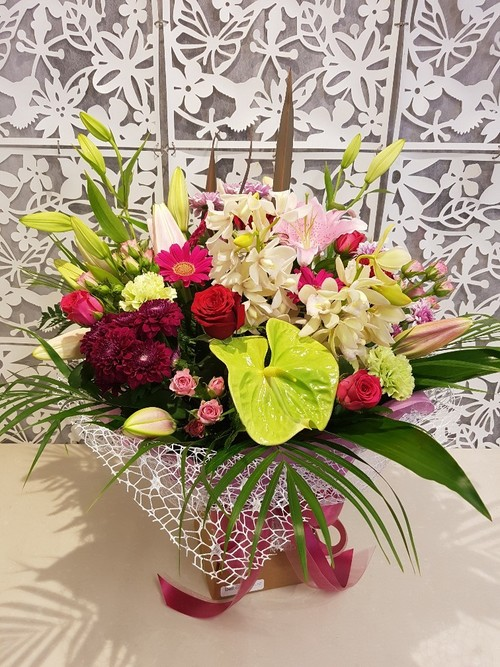 Testimonial for Dusky Pink Funeral Bouquet