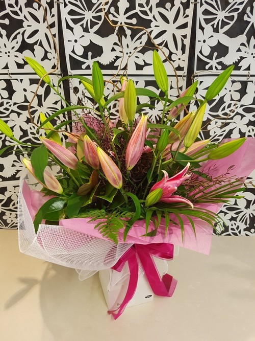 Testimonial for Fragrant Pink Lily Bouquet