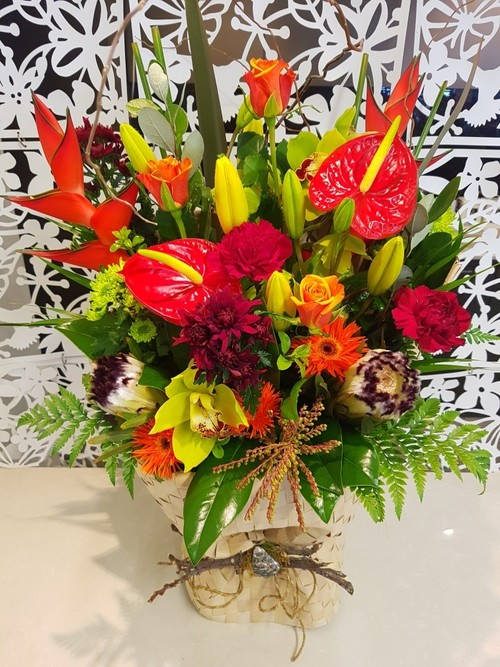 Testimonial for Dramatic Tropical Flower Bouquet