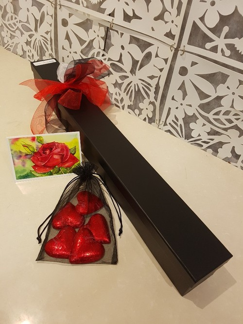Testimonial for Single Red Rose in a Gift Box