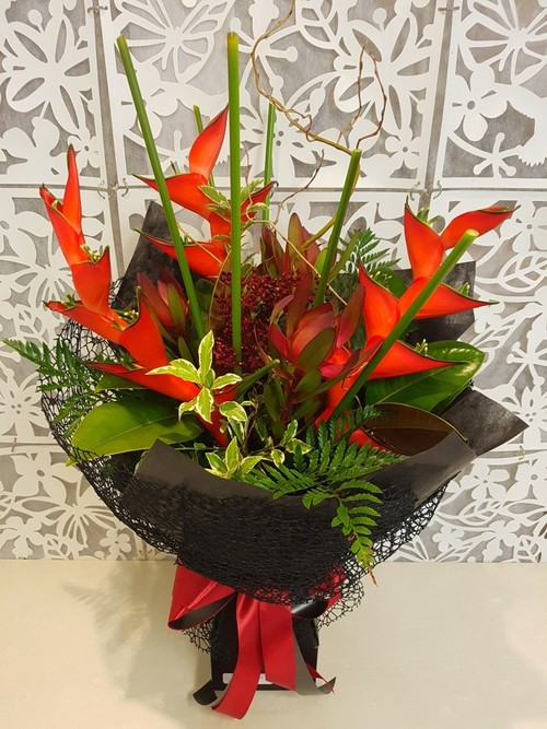 Testimonial for Red Flame Heliconias in Designer Vox