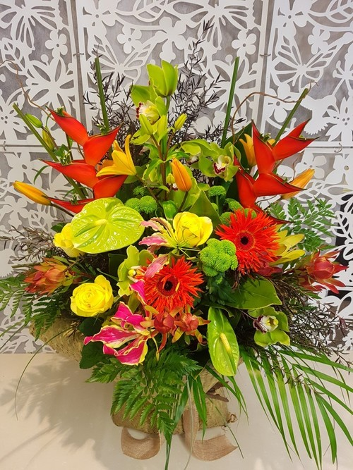 Testimonial Photo for Dramatic Tropical Flower Bouquet