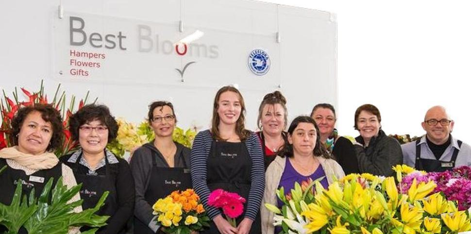 Pictures of our flower shop in Auckland and our team of professional florists.