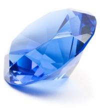 The Birthstone for September is the blue sapphire