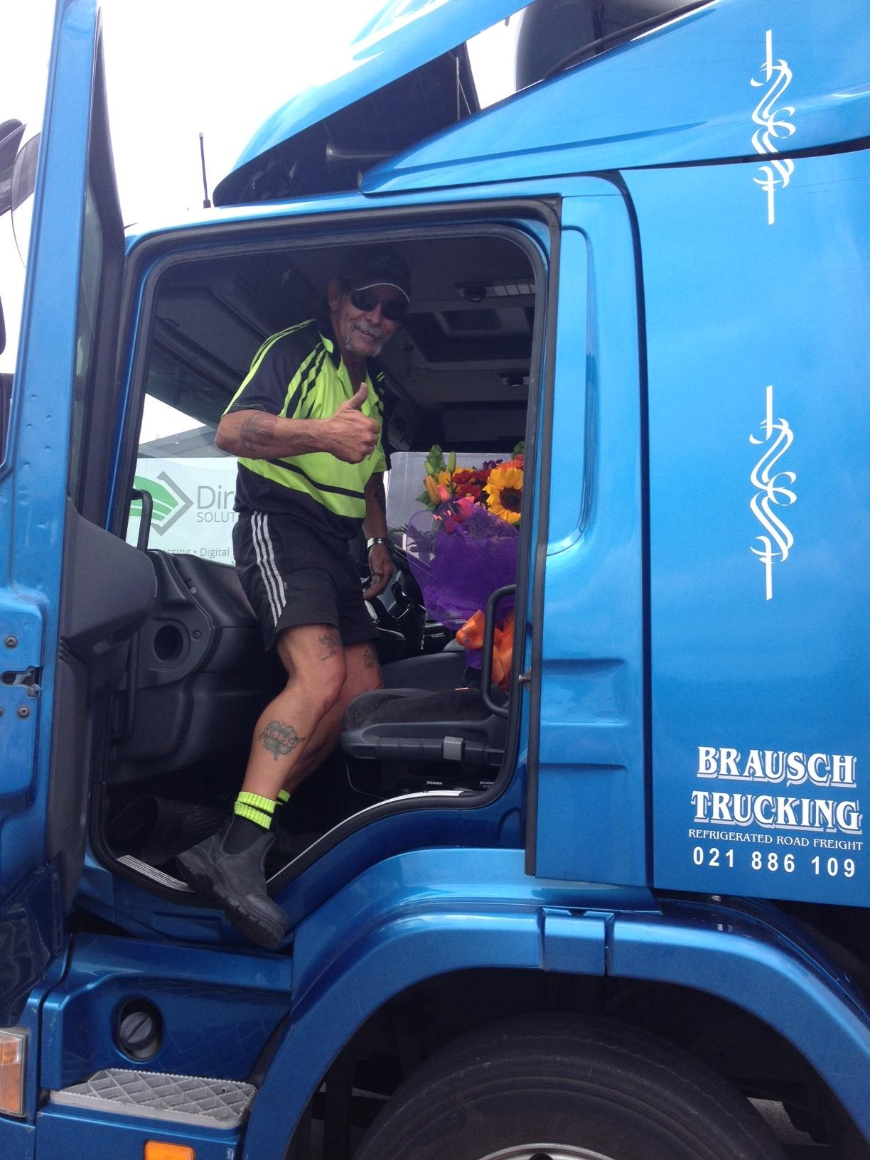 Flowers being picked up by Truck from our Auckland Florist Shop