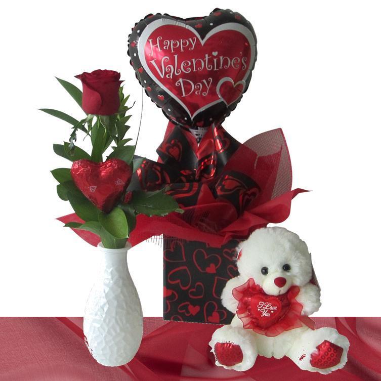 Romantic Valentines Gift Basket