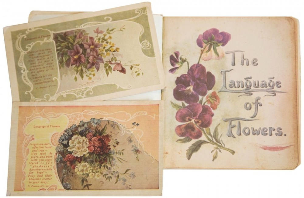 victorian vintage language of flowers
